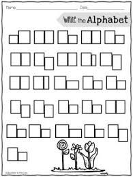printable alphabet grid kindergarten writing worksheets with picture box homeshealth info