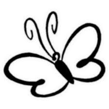 free simple butterfly black and white free clip