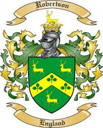 robertson family crest from by the tree maker