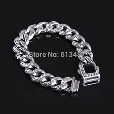 man silver link bracelet images Discount sale best quality silver stainless steel link chain men 39 s jpg