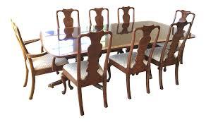 mahogany henredon georgian dining set chairish