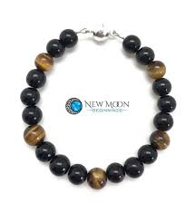 tiger eye jewelry its properties protection bracelet black obsidian and tiger eye bracelet