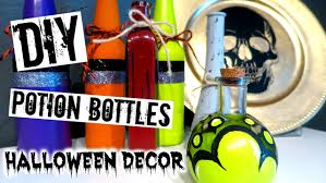diy halloween decor potion bottles youtube