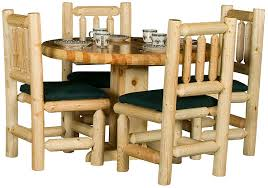Log Dining Room Table Rustic Furniture Rustic Pine Log Round Log Dining Room Table