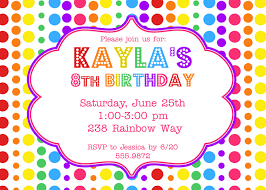 polka dot invitations birthday party invitations cloveranddot