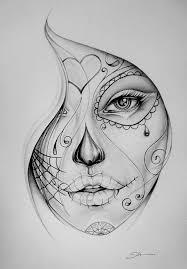 dia de los muertos skull tattoo on shoulder