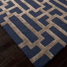 Blue Wool Rug 8x10 Hand Tufted Wool Art Silk Dallas Rug 5 U0027 X 8 U0027 Jaipur Rugs