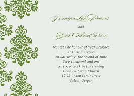 damask wedding invitations green damask simple wedding invitations ewi287 as low as 0 94