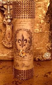 Fleur De Lis Utensil Holder Michelle Butler Designs Gold Bling Candles French Vintage Fleur De