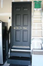 Home Interior Doors by Black Interior Doors In The Basement From Thrifty Decor