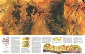 Grand Canyon Maps Grand Canyon Of Colorado Map 1978 Maps Com