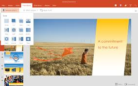 Add Transitions In Powerpoint For Android Tablet Preview