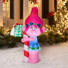 amazon com trolls poppy with candy cane 5 u0027 christmas gemmy