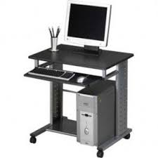 Office Desk With Wheels Small Computer Table On Wheels Foter