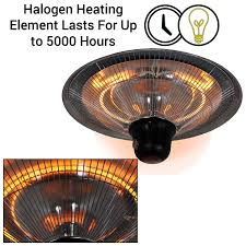 electric heater patio 1500w ceiling mounted electric halogen garden patio heater