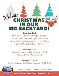 bishop chamber of commerce fun u0026 festive holiday events