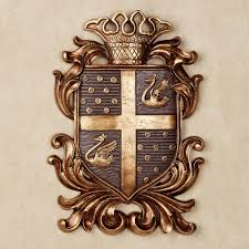 monarchy plum coat of arms wall plaque