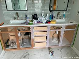 how to replace cabinet doors and drawer fronts how to update an vanity with new drawers doors and paint