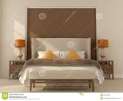 Schlafzimmer Braun Orange Beige Schlafzimmer Mit Orange Dekor Stock Abbildung Bild 33914938