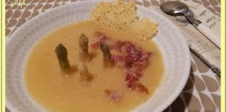 tuile cuisine soupe d asperges au lard et tuile de comté facile et pas cher