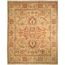 Sari Rug Oushak Hand Knotted Gold Ivory Wool Sari Rug 8 U0027 X 10 U0027 Free