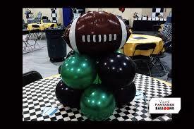 football centerpieces balloon centerpieces visual fantasies balloons