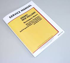 sperry new holland square baler service manual 310 311 315 316 320