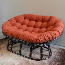 furniture light solid rattan double papasan chair frame for home