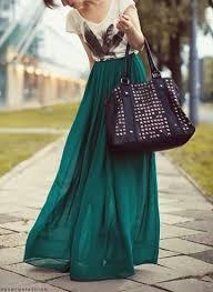 flowy maxi skirts emerald green maxi skirt 3 green