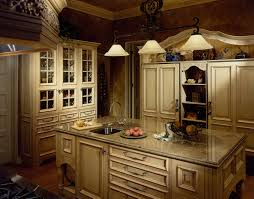easy interior decorations for traditional kitchen enhanced with