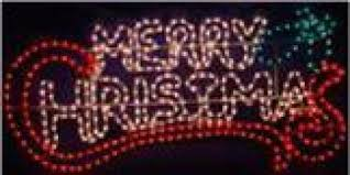 merry christmas sign lighted info