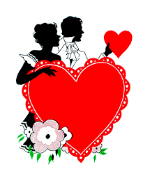 vintage valentine u0027s day clip art romantic silhouettes the