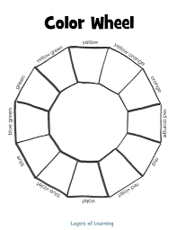 color wheel mixing guide printable print colored copy free white