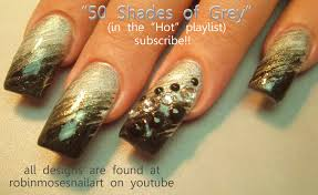50 shades of grey nail art black ombre nail black gradient nail