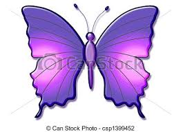 beautiful 3d butterfly large purple butterfly illustration