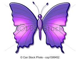 beautiful 3d butterfly large purple butterfly illustration clip