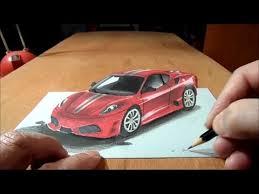 how to draw 3d car drawing ferrari car 3d trick art graphic