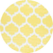 Yellow Lattice Rug Nuloom Faux Sheepskin Shaunna Yellow 5 Ft X 5 Ft Round Area Rug