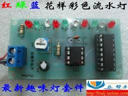 electronic components led lights synchronized traffic lights water color ne555 cd4017 led light kit