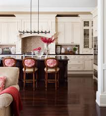 backsplash dark countertops kitchen traditional with red patterned