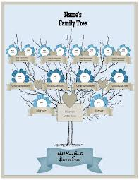 family tree template free generation family tree template sle