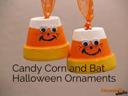 candy corn and bat halloween ornaments housewife eclectic