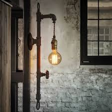 Industrial Wall Sconce Lighting Fashion Style Pipe Wall Sconces Industrial Lighting