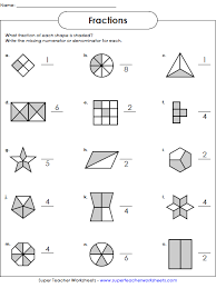 fractions worksheets math worksheets pinterest fractions