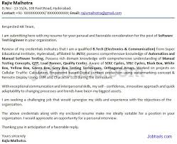 Sample Cover Letter for Freshers Jobtrails
