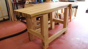 Build Woodworking Workbench Plans by Workbench Plans Diy Adjustable Height Wood Photo On Amusing