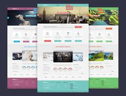 contoh web design dengan html template tutorial web design