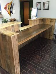 custom made reception desk custom made rustic reclaimed wood and live edge reception desk by re