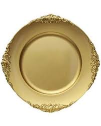 amazing deal on vintage charger plate gold