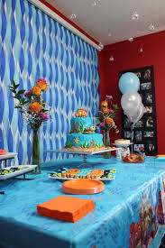 Party Table Decorations by Cake Dessert Table Decorations Finding Nemo Theme Party